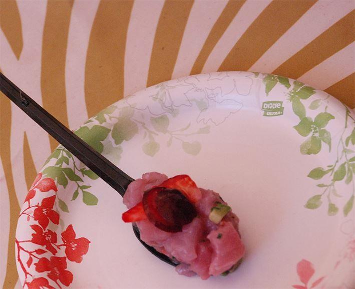 Maridaje: Jurel con Rockot y frutos rojos y una esencia de anís