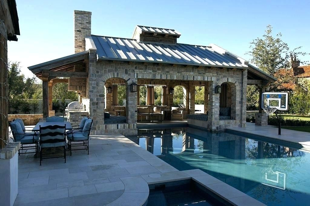 25 Pool House And Cabana Ideas For Relaxing Retreat Rustic Small Simple Modern Diy Outdoor Inexpensive Pool Houses Backyard Pool Pool Cabana