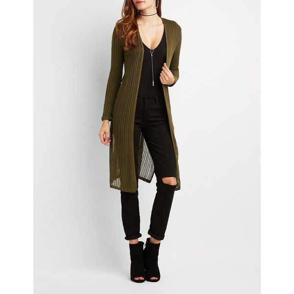 Charlotte Russe Open Knit Duster Cardigan ($18) ❤ liked on ...