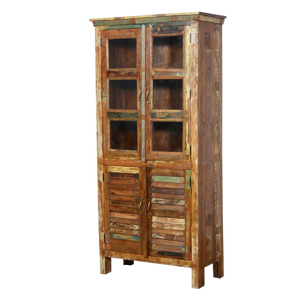 Reclaimed Wood Rustic Bedroom Armoire Wardrobe #BedroomArmoireWardrobe  #BedroomArmoires