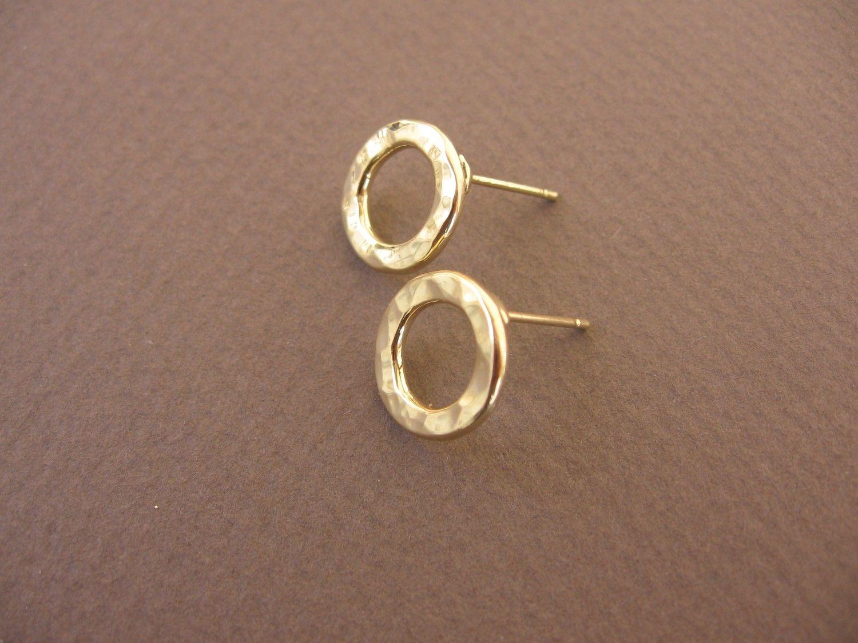 Hammered post earrings via Etsy.   Earrings   Pinterest   Sterling ...