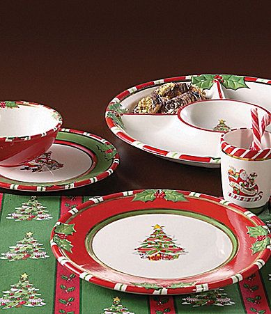 Must find these dishes for Christmas!! A Dillards Exclusive Christopher Radko Letters to Santa Dinnerware #Dillards : christopher radko dinnerware - pezcame.com