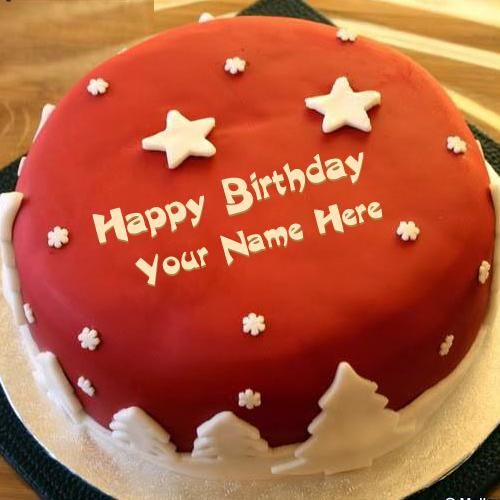 Happy Birthday Cake With Name Edit Online Ena