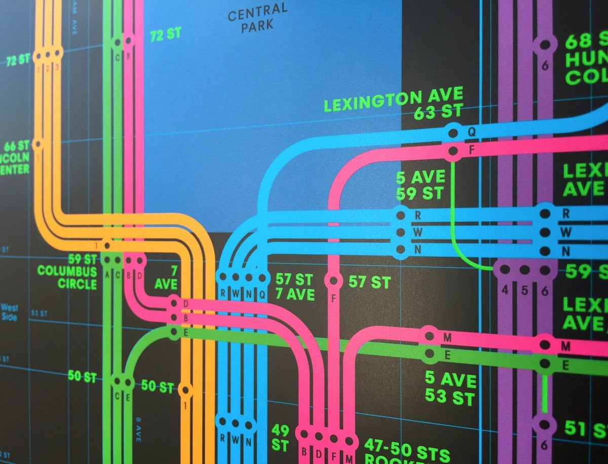 Creative Subway Map.Work Triboro Release Two Wrong Color Subway Maps Sign Design