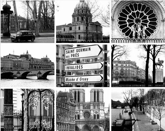 Black White Paris Photography Collage By PetitePastiche On Etsy 3500