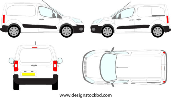 Citroen Berlingo Van Template Blueprint Outline Download Designstockbd Com Blueprints Citroen Berlingo Custom Vans