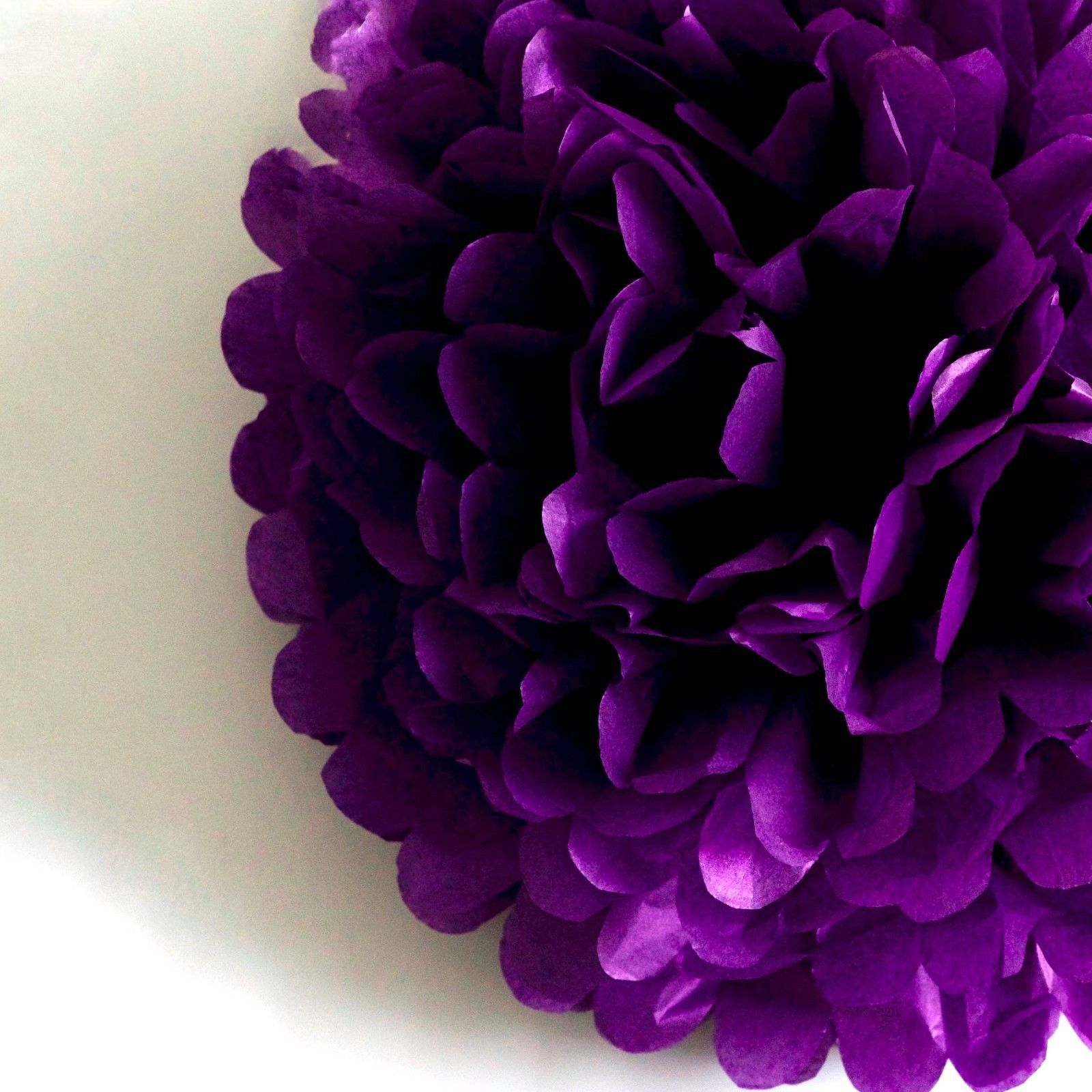 145 GBP Aubergine Tissue Paper Pom Poms HandmadeWedding Party