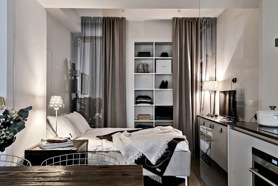 This 355 Square Foot Small Studio Apartment In Gothenburg, Sweden With Chic  Scandinavian Style Decor Epitomizes Modern Urban Living.