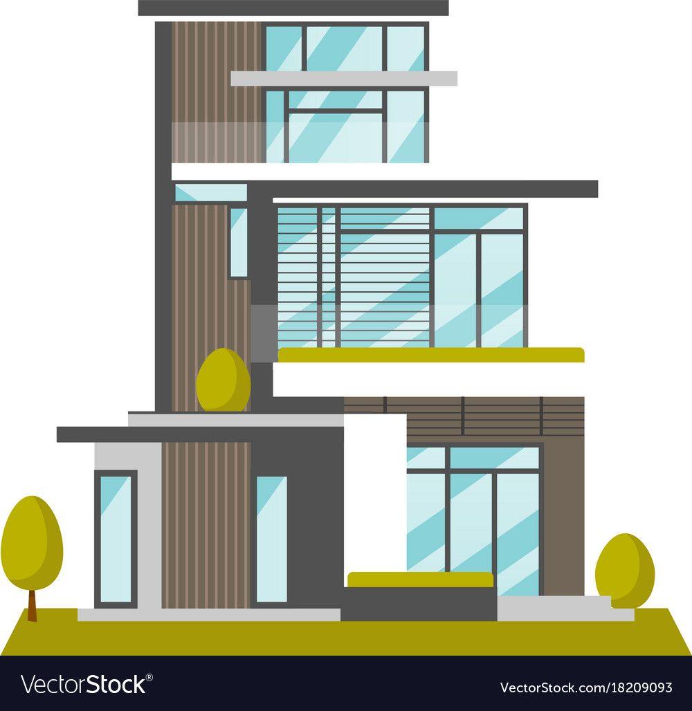 Modern House Design Cartoon In 2020 House Design Home Roof Design House Design Photos
