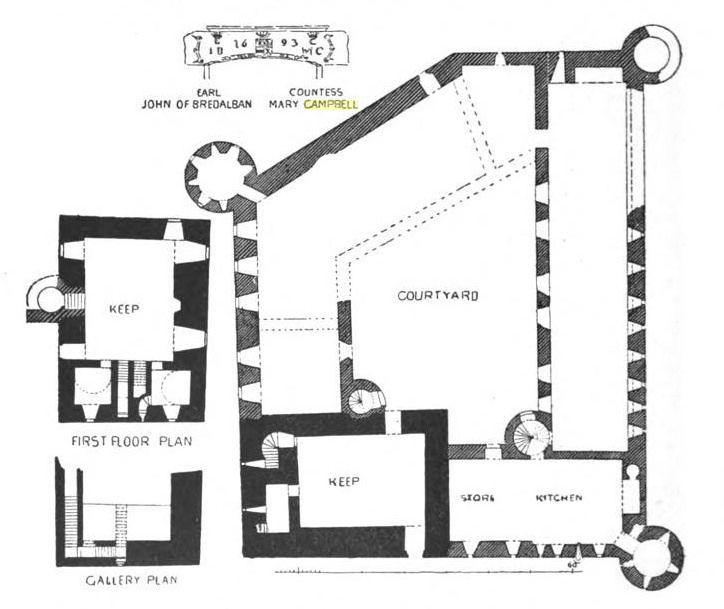 Description Of Kilchurn Castle Eccentric Bliss Castle Floor Plan Castle Scottish Castles