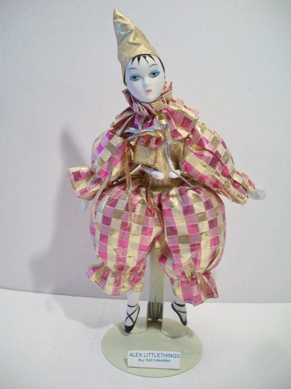 Hey, I found this really awesome Etsy listing at https://www.etsy.com/listing/285359743/pierrot-harlequin-clown-doll-shiny-pink