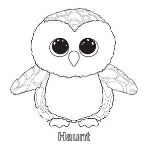 ty big eye coloring pages | Pin by Kimberly Whitley on Birthday Parties | Beanie boo ...