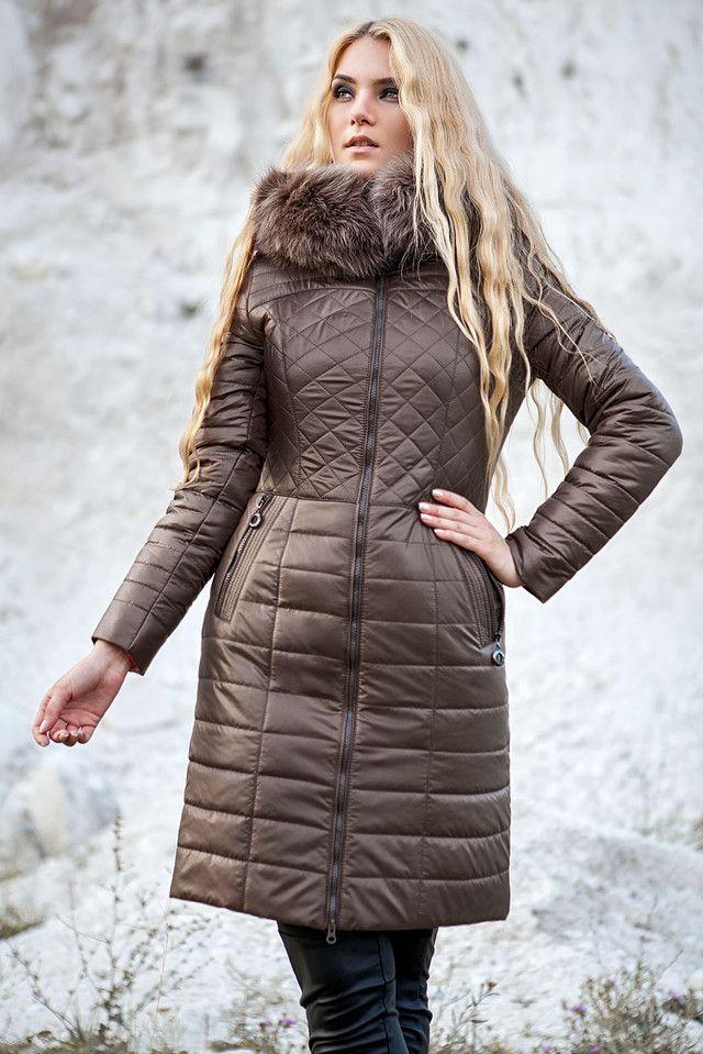 9ee0f2ef6d4b Пальто зимнее женское с мехом песца, енота или без меха 44, 50-54 ...