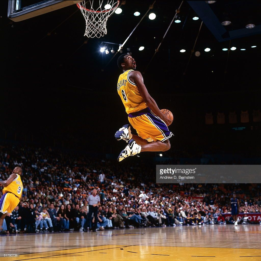 Kobe Bryant Of The Los Angeles Lakers Goes Up For A Reverse Slam Dunk Kobe Bryant Dunk Lakers Kobe Kobe Bryant Wallpaper