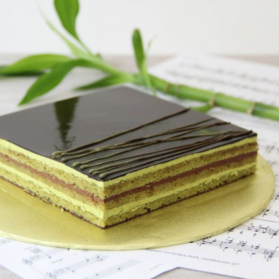 green tea opera cake cooking pinterest. Black Bedroom Furniture Sets. Home Design Ideas