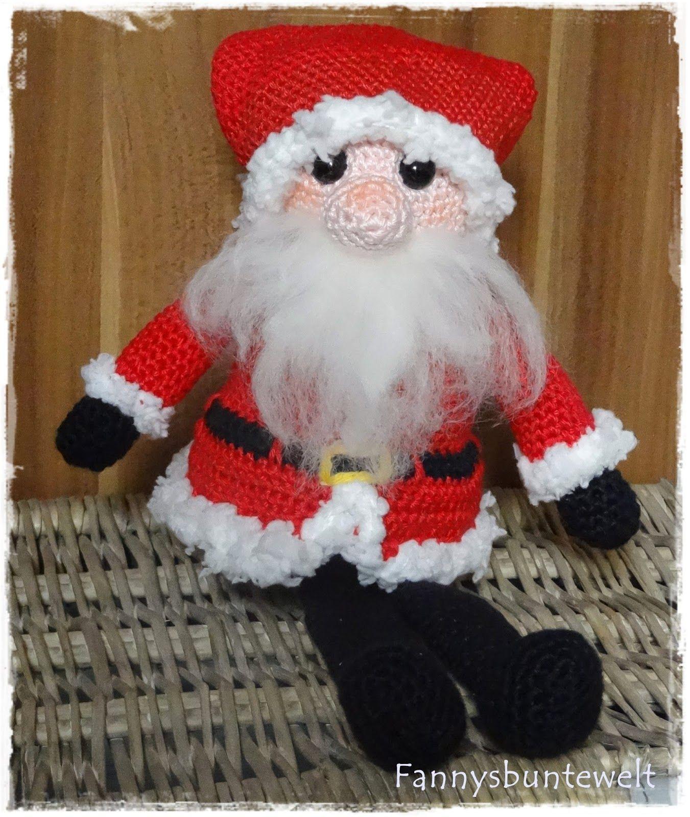 Fannysbuntewelt: Maxi-Ü-Ei Weihnachtsmann   Häkeln   Pinterest ...