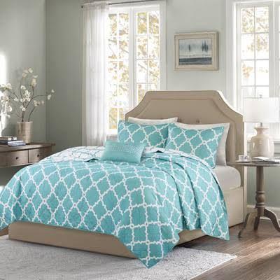 Aqua King Cotton Quilt Google Search Complete Bedding Set