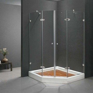 Vigo Industries Frameless Neo Angle Double Door Shower Enclosure