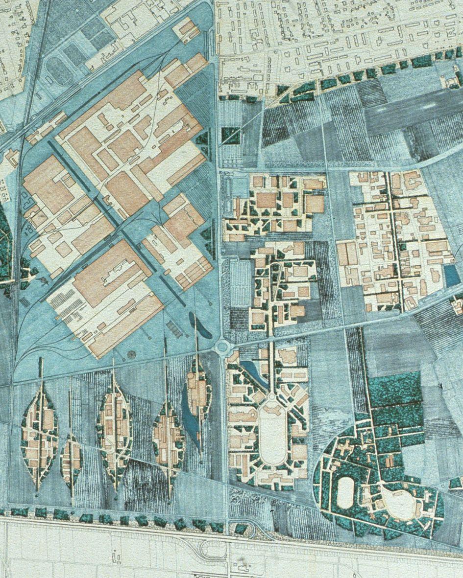 Krefeld plan masse graphique Pinterest