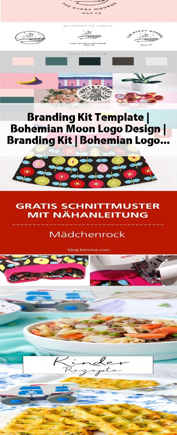 Branding Kit Template   Bohemian Moon Logo Design   Branding Kit   Bohemian Logo Design   Hand Drawn Sketched Logo   Logo Watermark -