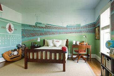 Bedrooms Traditional Kids Dc Metro Houseworks Interiors Baseball Themed Bedroom Boys Bedroom Paint Color Baseball Bedroom