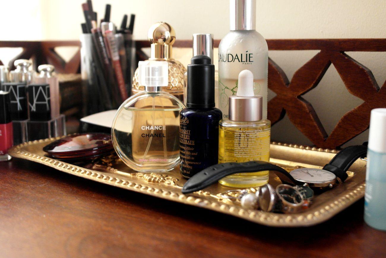 A Spring Themed Dresser Edit Makeup organization