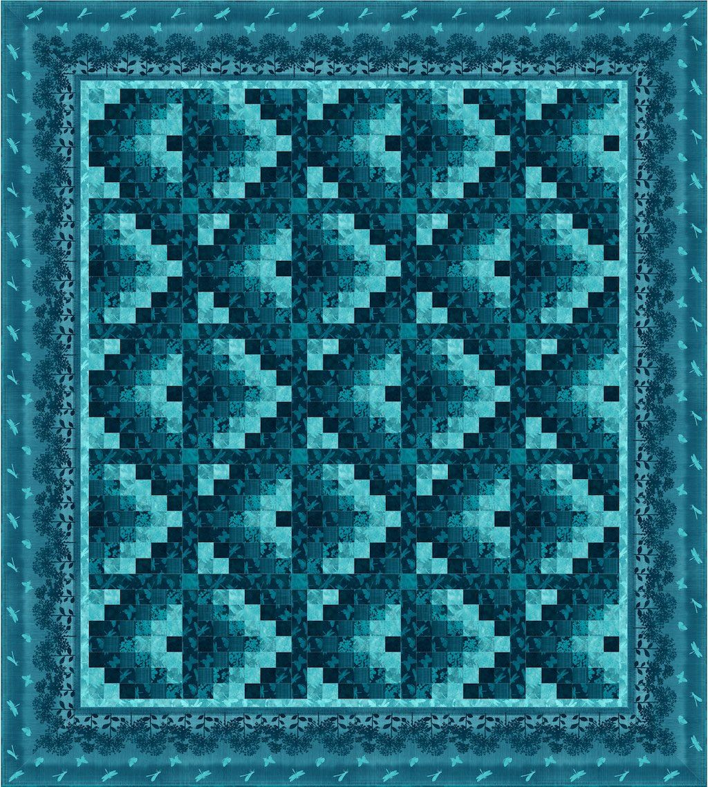 A Straight Forward Geometric Quilt Pattern Suitable For All Levels This Can Be Tuned To Anyone S Taste With Simple Changes In Colours And Fabric