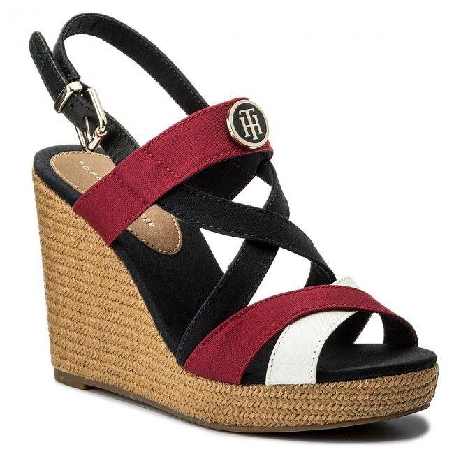 Damen Tommy Hilfiger Sandale ICONIC ELENA SANDAL rot