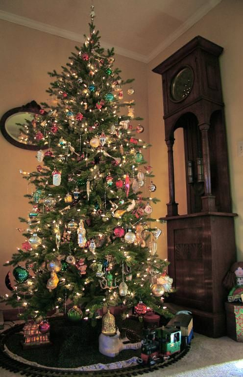 Red Spruce Slim Artificial Christmas Trees Online Balsam Hill