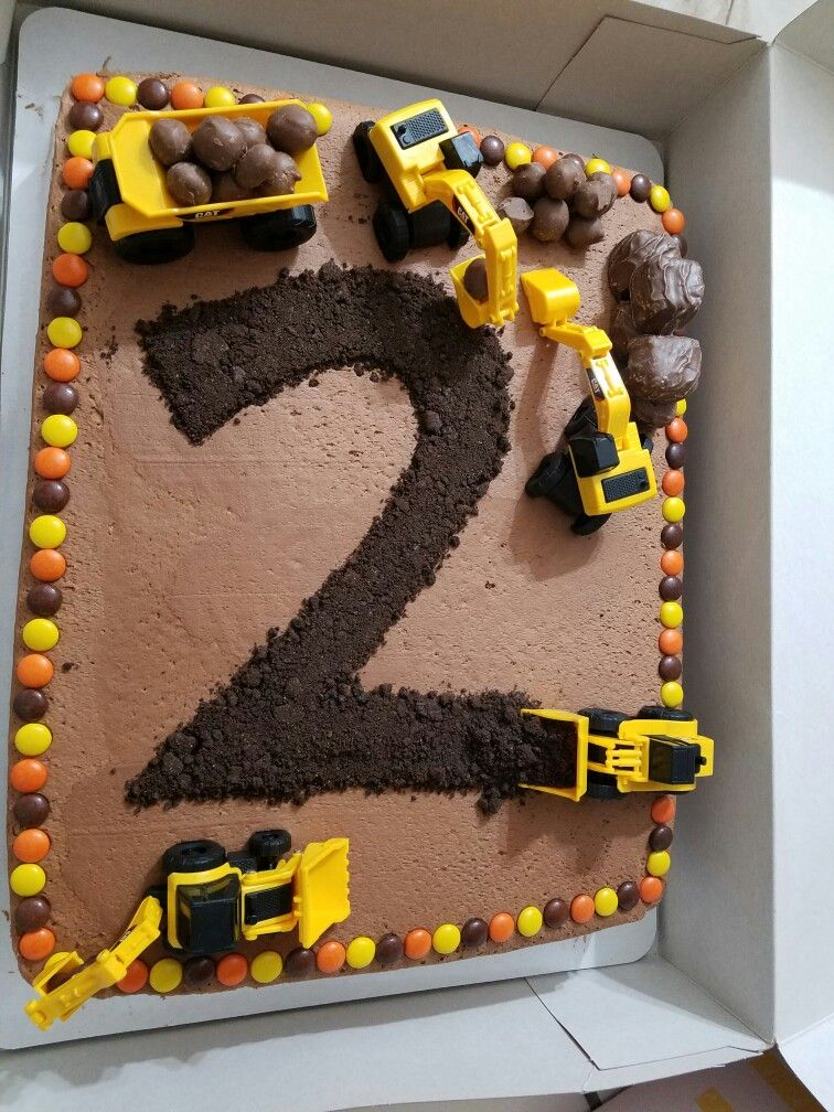 2 Year Old Birthday Cake : birthday, Son's, Turned, Awesome.., Construction, Birthday, Cake,, Parties,