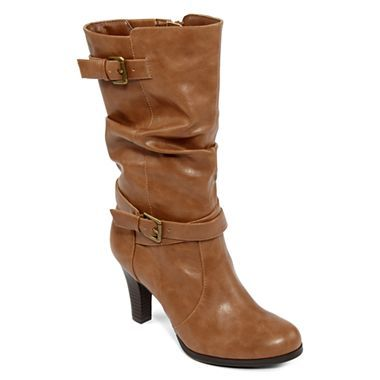 38e3d38dacfe St. John s Bay® Amaretto Slouch Buckle Boots - jcpenney