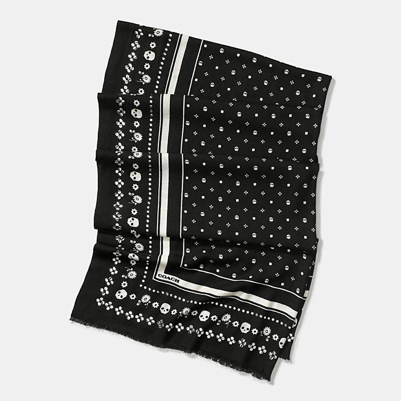 a18eda78f Studded skull bandana oversized oblong scarf   fashion   Bandana ...