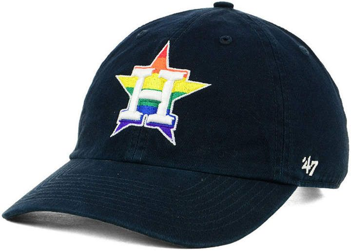 new arrival c2bd0 87d1e  47 Houston Astros Pride Clean Up Strapback Cap.