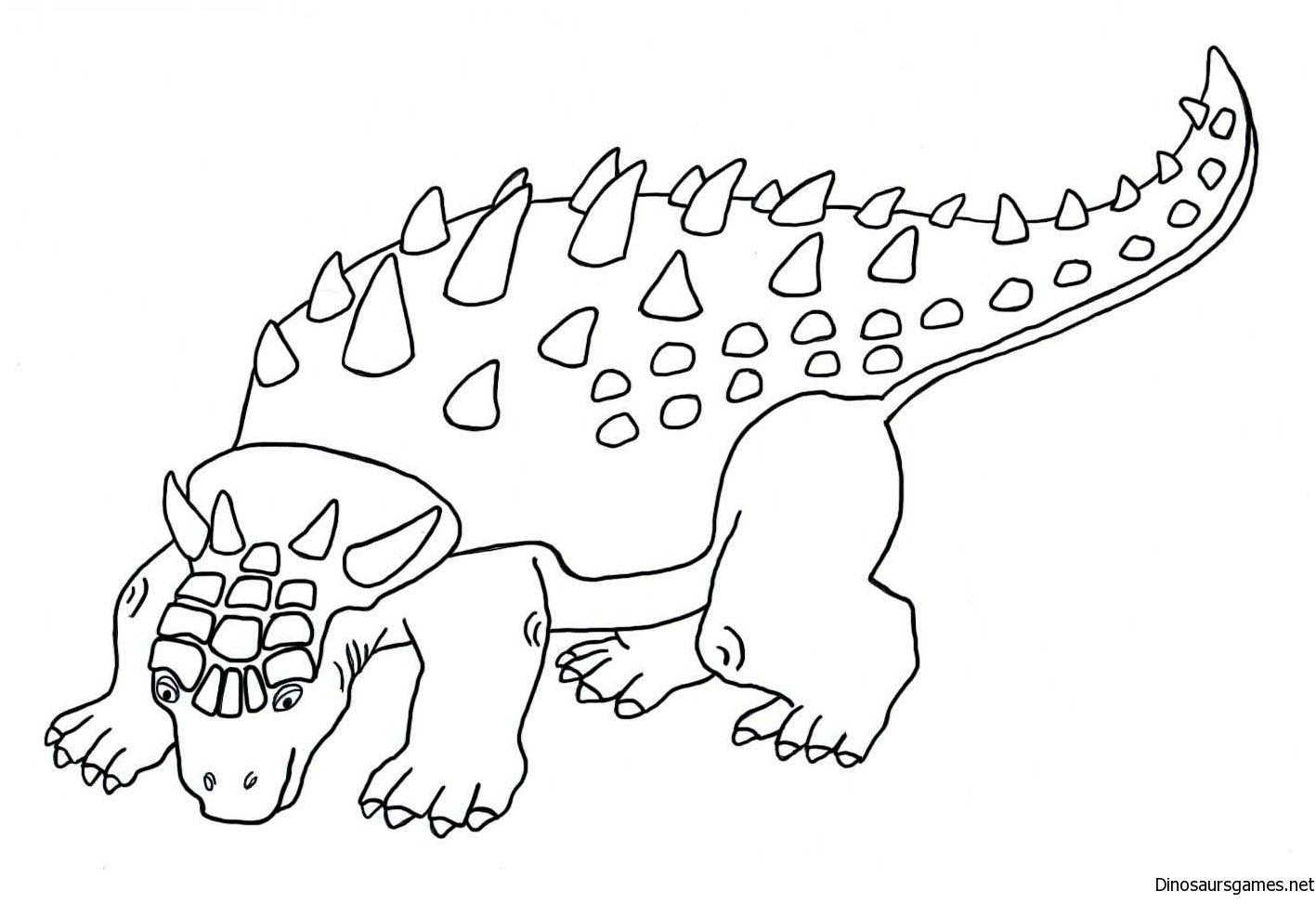 Pin By Dinosaur Games On Ankylosaurus Dinosaur Coloring