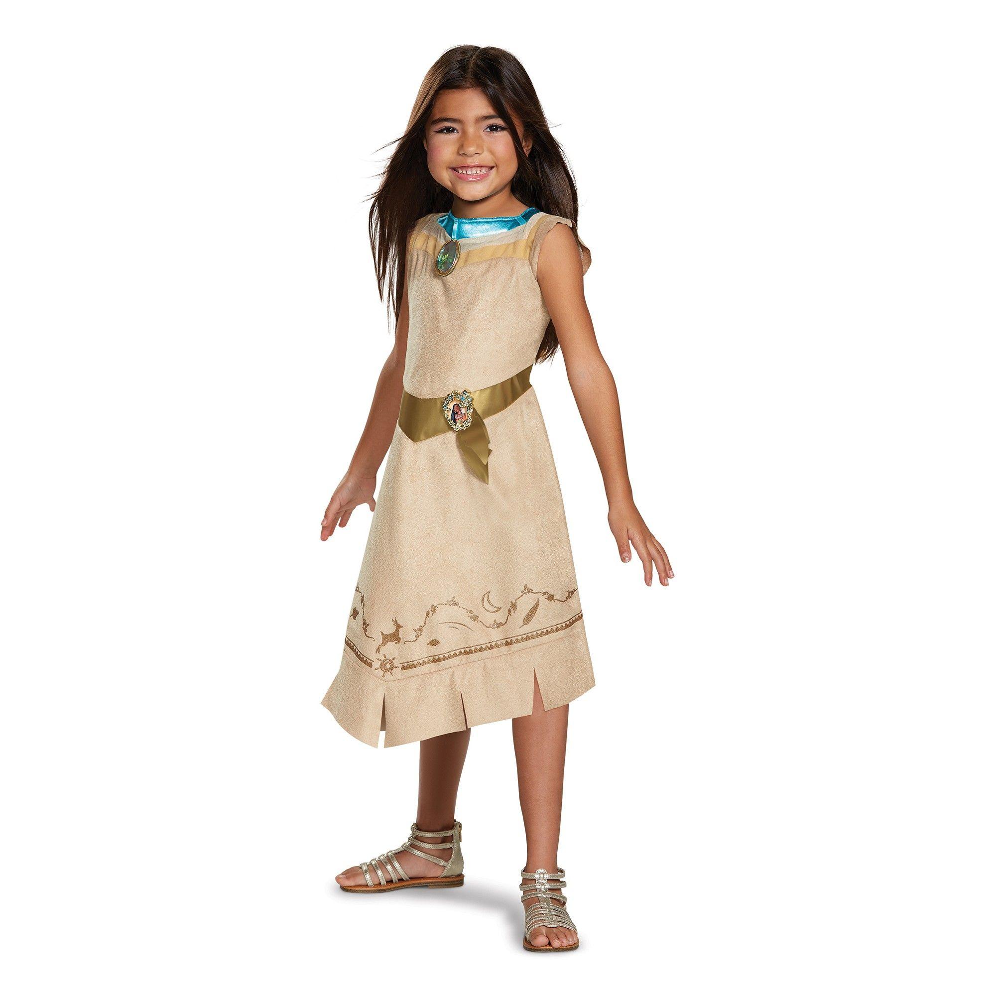New Disney Parks POCAHONTAS Costume Dress Girls Small 6