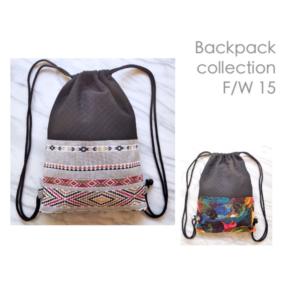 Backpack collection 2015  Navajo ethnique tropical tropicool  Handmade made in france Montpellier Accessoires Sac à dos
