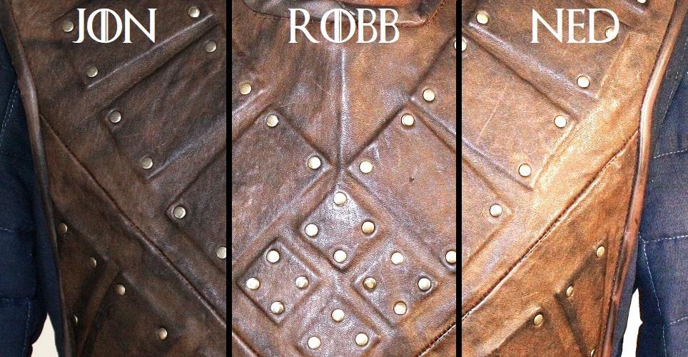 Robb Ned Stark Jon Snow Game of Thrones Leather Brigandine Costume ...