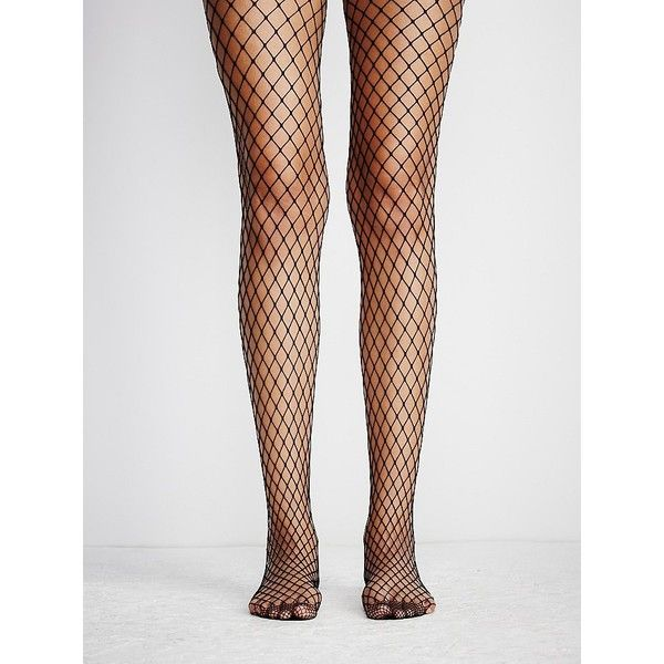 Libby Fishnet Tight (52 BRL) ❤ liked on Polyvore featuring intimates, hosiery, tights, socks, fishnet hosiery, fishnet pantyhose, free people tights, fishnet tights and fishnet stockings