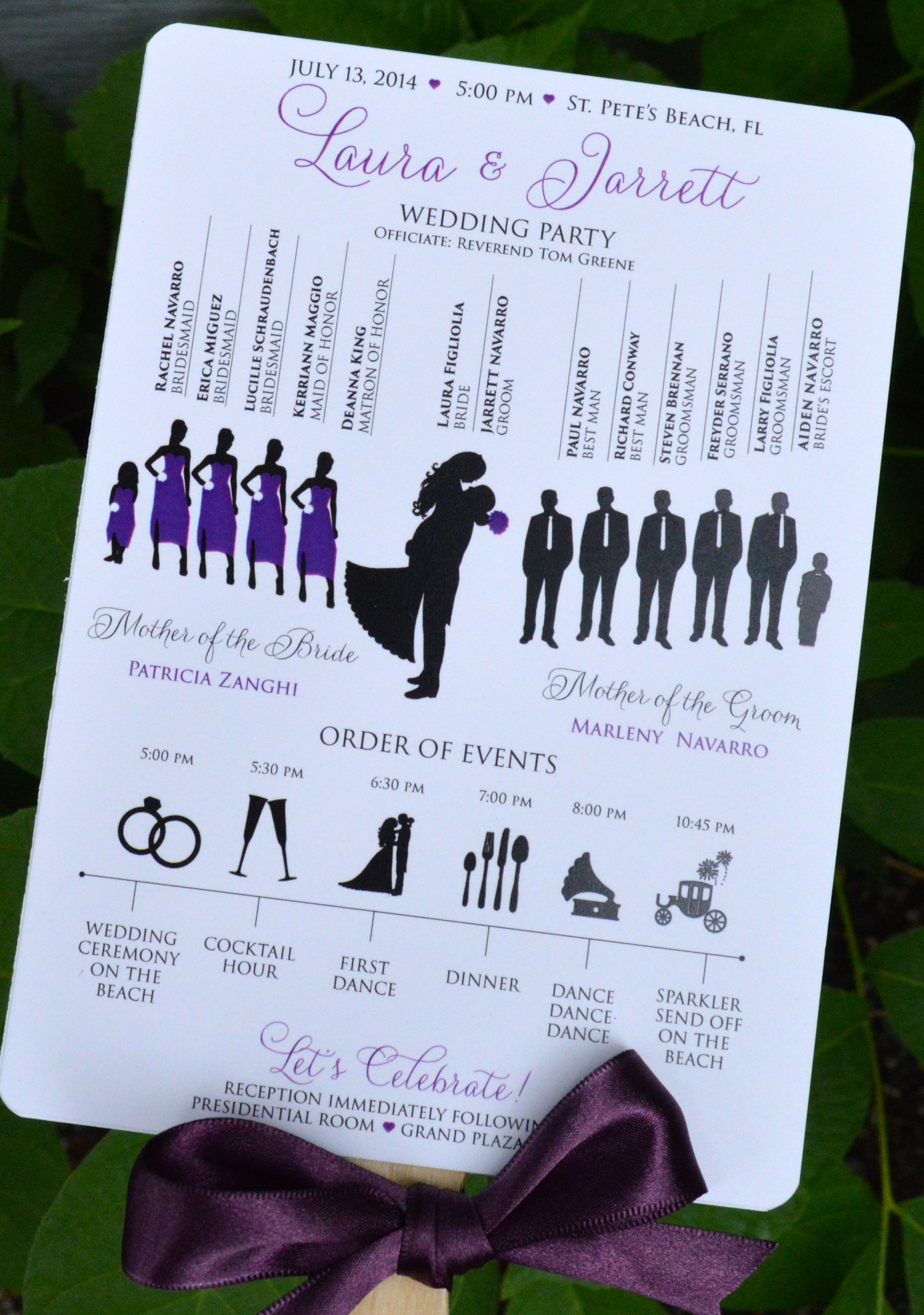 I like the idea of the pic of wedding party and night layout and fan