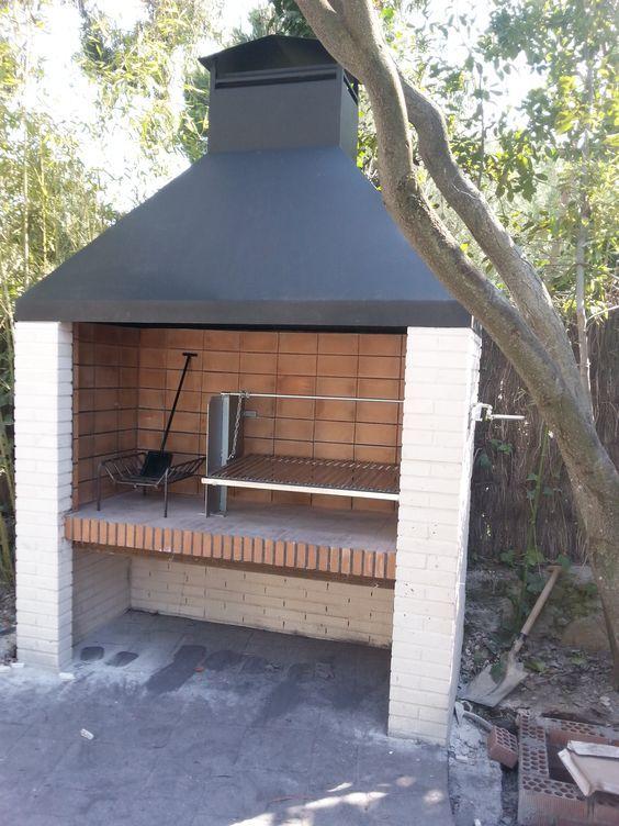 Parrilla y campana para barbacoa de obra outdoor - Barbacoa de ladrillo ...