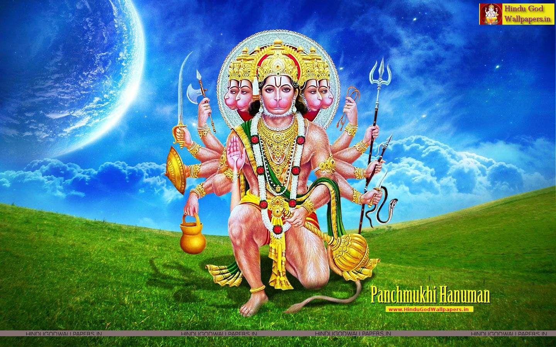 Panchmukhi Hanuman Photo Hd Hindu God Wallpapers Hanuman Wallpaper Hanuman Photos Hanuman