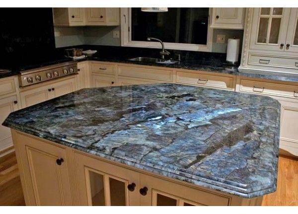 Dynamic Blue Granite Slab Counter Top Blue Granite Countertops Best Kitchen Countertops Diy Kitchen Countertops