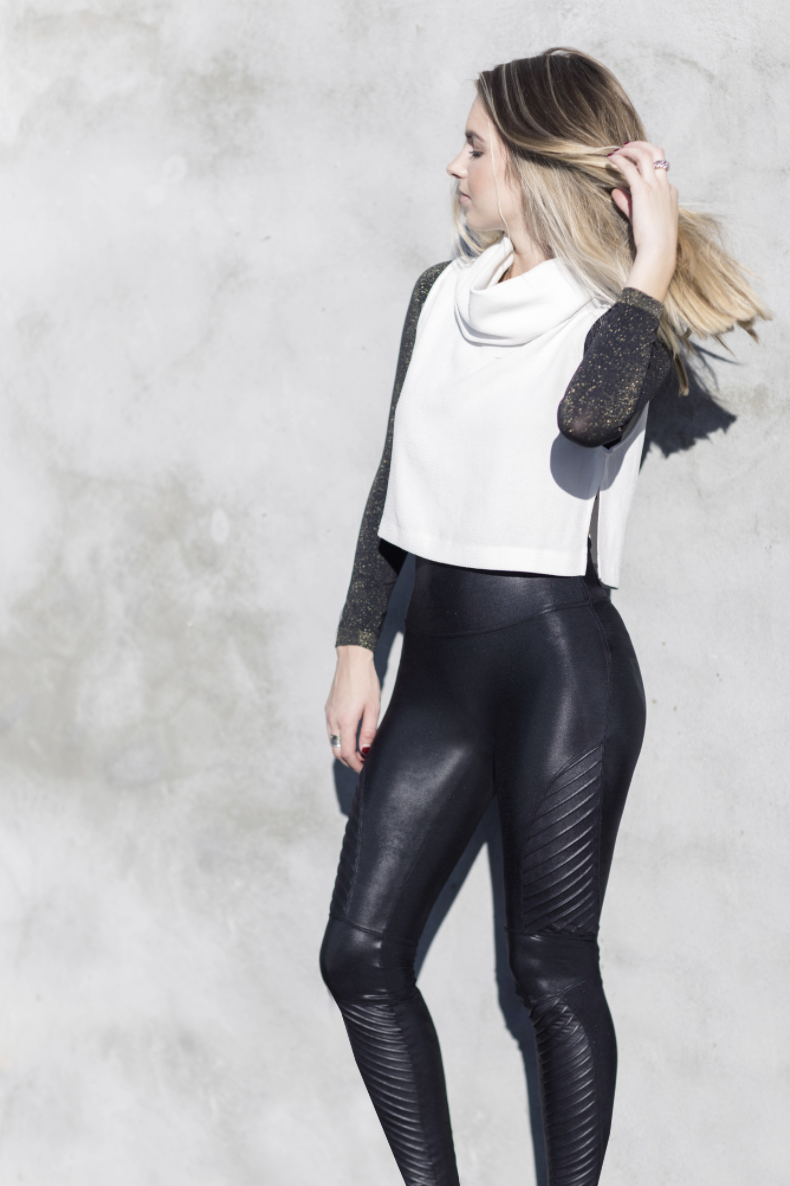 c0eeef49648b7 Faux Leather Moto Leggings in 2019 | Styled in SPANX | Leather ...