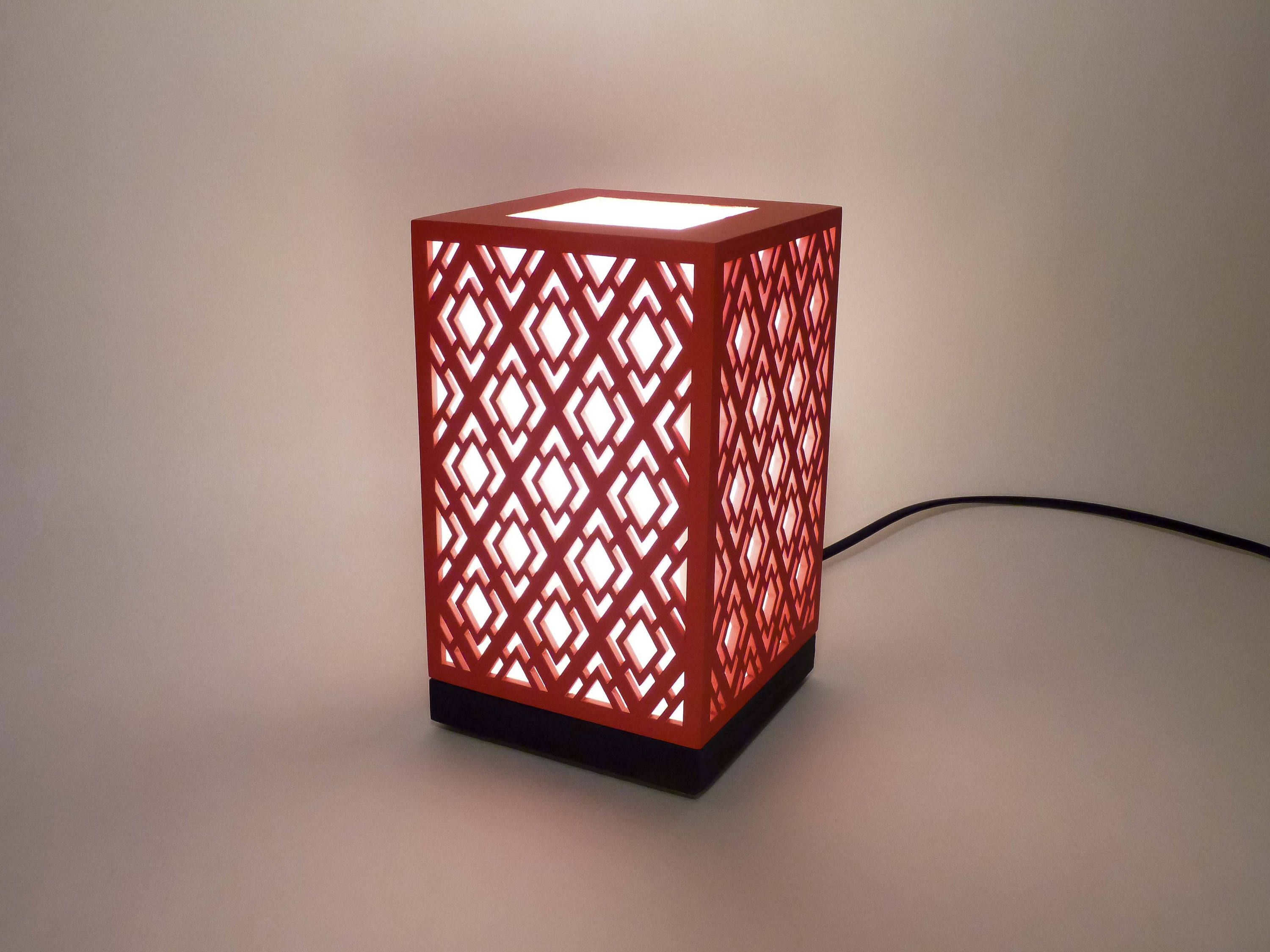 Lantern Table Lamp Housewarming Lighting Wooden Lamp Moroccan Pattern Wooden Gift Gift For Him Gift For Her Decorative Lamp Lanterne