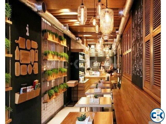 Small Fast Food Restaurant Interior Design Clickbd Large Image 1 Restaurant Interior Restaurant Interior Design Restaurant Design