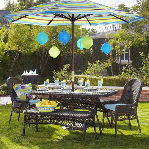 7 Backyard Decoration Ideas Patio Set With Umbrella Backyard Decor Patio Decor