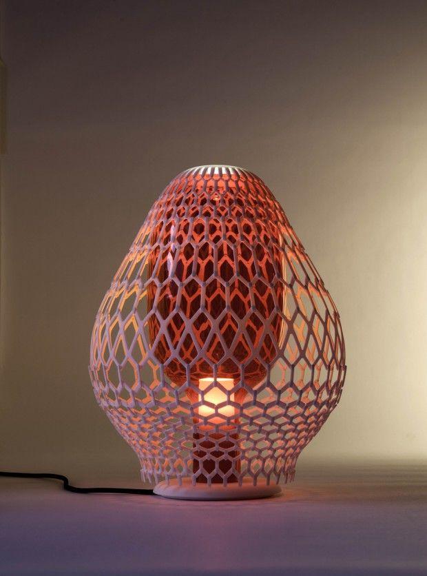 Rhizaria Biophilia 3d Printed Lamps By Lanzavecchia Wai Lamp 3dprinting Design Lamp Design