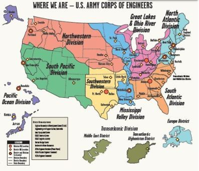 Map Headquarters US Army Corps Of Engineers Retirement - Us corps of engineers maps