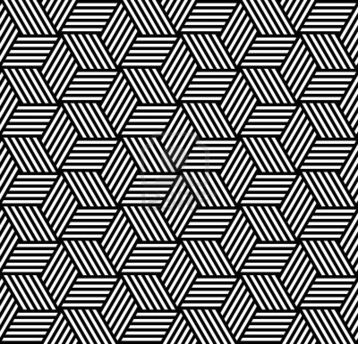 Op Art Designs : Seamless geometric pattern in op art design vector