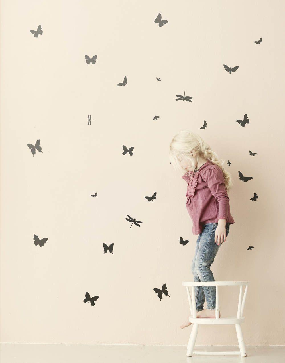 Erstaunlich Wandtattoo Schmetterling Dekoration Von Ferm Living - Entzückendes Design Aus Skandinavien